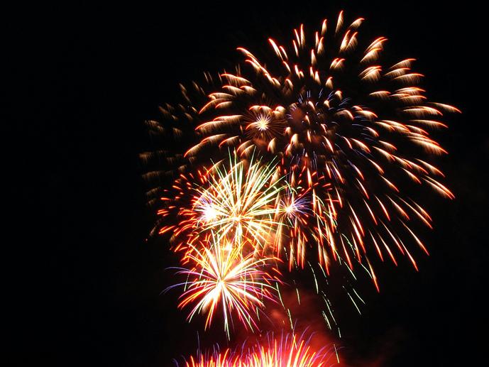 Fireworks in Vancouver - Celebration of Light 2011